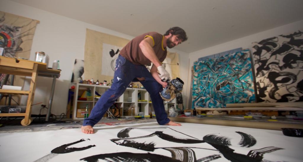 Vaultman dans son atelier de Montreuil